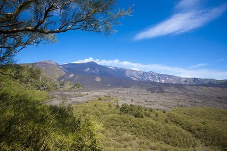 The Etna vulcan in Sicily, Italy Stock Photo