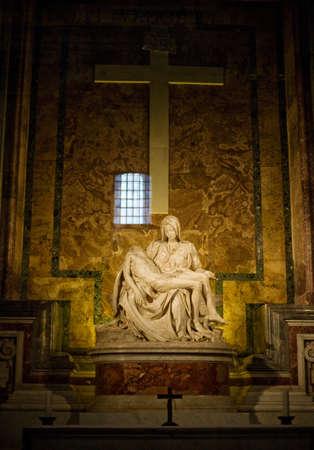 Michelangelo's Pieta in St. Peter's Basilica in Rome. Stock Photo - 17617954