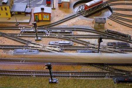 bogie: Train railroad tracks and bogie.