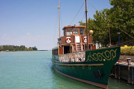 Old wooden ship on the Lake Balaton.