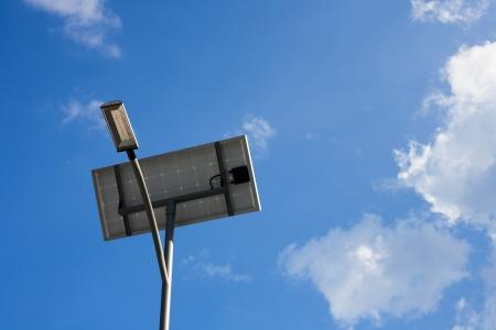 Solar cell powered street lamp Stock Photo - 17618025