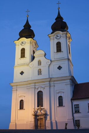 Tihany Abbey's towers at Lake Balaton, Hungary. Stock Photo - 17618147