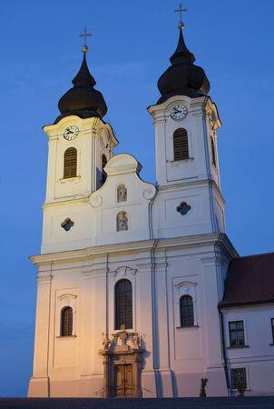 abbeys: Tihany Abbeys towers at Lake Balaton, Hungary.