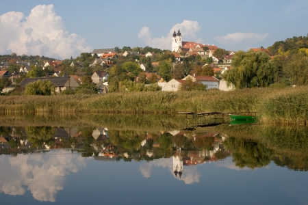 A view of Tihany from the inner lake, near to lake Balaton, Hungary
