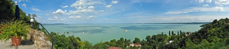 Panoramic view of Lake Balaton from Tihany, Hungary