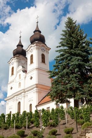 Tihany Abbey at Lake Balaton, Hungary photo