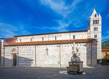 carrara: The Carrara Cathedral which exteriors covered by carrara marble
