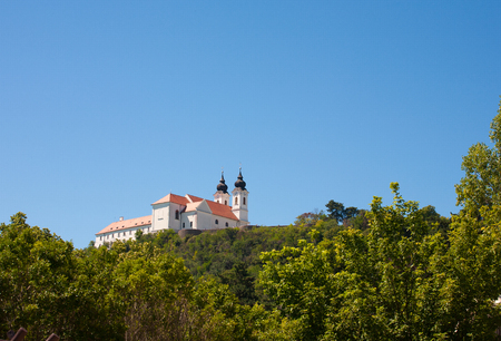 Tihany Abbey at Lake Balaton in Hungary Stock Photo