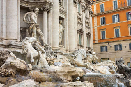 dragonet: Detail of the Trevi Fountain in Rome, Italy