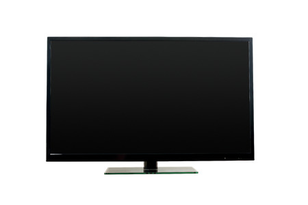 tv monitor: Flat led TV monitor on white, clipping paths (tv and the screen also) included