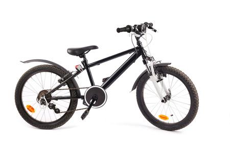 Fully-eqipped bike for children isolated on white background Stok Fotoğraf