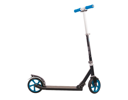 kick out: Push scooter isolated on white background. Accurate clipping PATH included