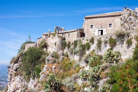 Detail of Castelmola above Taormina