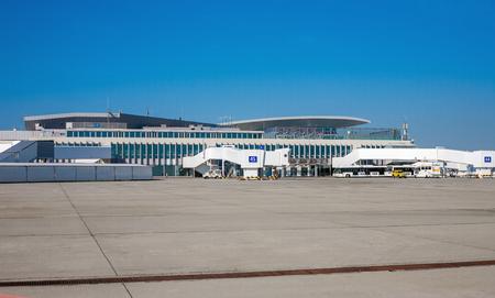 liszt: BUDAPEST, HUNGARY - MAY 29, 2015: Budapest Ferenc Liszt International Airport (BUD) in Budapest, Hungary Editorial