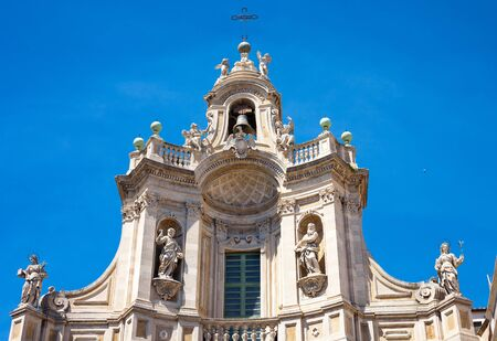 sant agata: Detail of Santa Agatha Cathedral in Catania City, Sicily, Italy