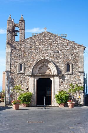 30 s: TAORMINA, ITALY - MAY 30, 2015:  St Antonio - S. Antonios Church at gate Catania in Taormina, Italy