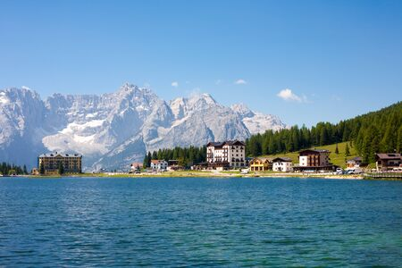 lake misurina: Lake Misurina in the Dolomites in Italy