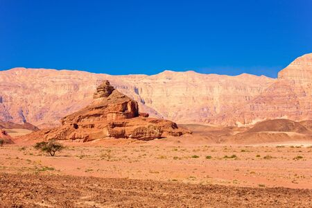 timna: The Spiral Hill - geological feature in Timna Park near to Eilat in Israel
