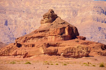 geological feature: The Spiral Hill - geological feature in Timna Park near to Eilat in Israel