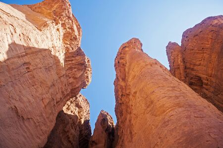 timna: The Solomons Pillars - Sandstone geological attraction in Timna Park near to Eilat, Israel.