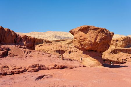 timna: The famous ??Mushroom? geological feature in Timna Park near to Eilat in Israel.