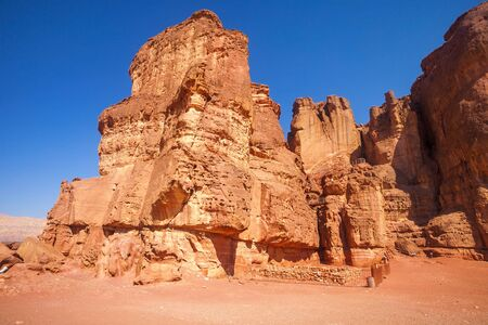 timna: Sandstone geological formation at Solomons Pillars in Timna Park, Eilat, Israel Stock Photo