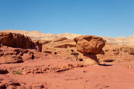 timna: The Mushroom - Sandstone geological formation in the Timna Park, Eilat, Israel. Stock Photo