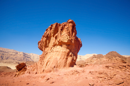 timna: Sandstone mushroom in Timna park near to Eilat, Israel