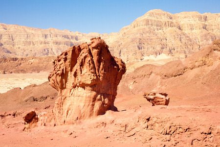 timna: Sandstone mushroom geological format in Timna park near to Eilat, Israel