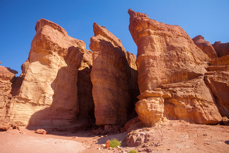 timna: The Solomons Pillars in Timna National Park, Israel