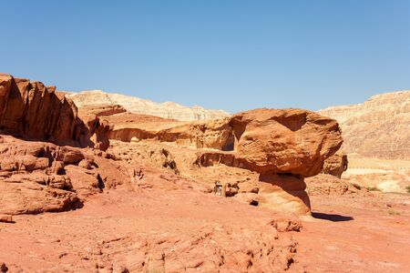 travel features: The Mushroom Sandstone in Timna Park, Israel.