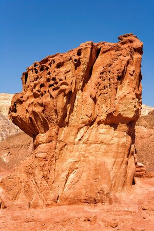 geological feature: The Mushroom and the half - Geological feature from Timna Park, Eilat, Israel