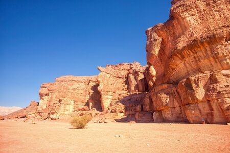 eilat: The Solomons Pillars sandstones  in Timna Park, Eilat, Israel Stock Photo