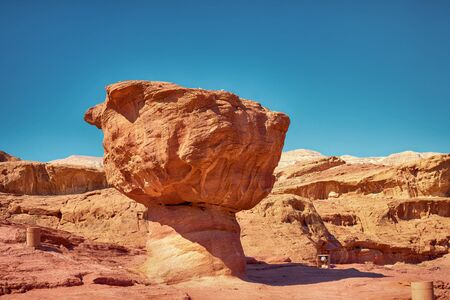 timna: The Mushroom sandstone geological feature in Timna Park near to Eilat, Israel
