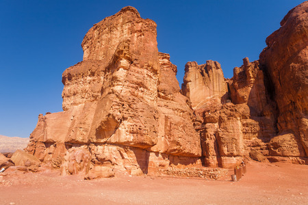 timna: The Solomons Pillars Geological attraction from Timna Park, Israel Stock Photo