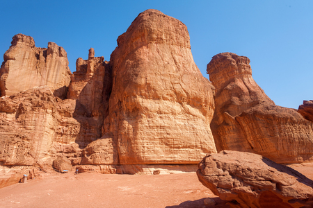 arava: The Solomons Pillars sandstone geological attraction in Timna Park, Israel