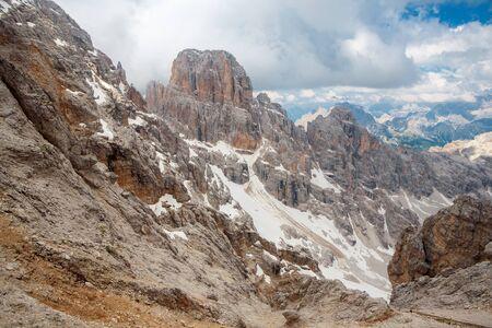 massif: Peaks of the Monte Cristallo Massif in the Dolomites near to Cortina, Italy