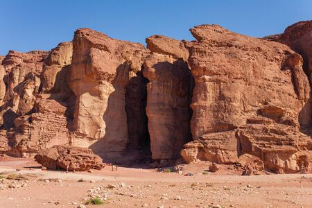 The Solomons Pillars geological and historical place in Timna Park near to Eilat, Israel. The first copper mines in the history were here.