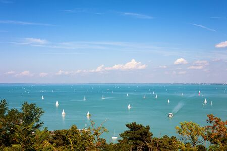 balaton: Panoramic view of Lake Balaton from Tihany, Hungary
