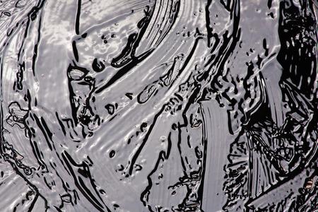 Liquid bitumen surface for backgrounds Stock Photo