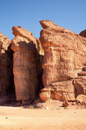 timna: The Solomons Pillars hystorical and geological attraction in Timna National Park, Eilat, Israel