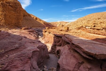 canyon negev: The Red Canyon tourist attraction in  Israel Stock Photo