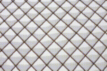 Color halftone wires of a chain link fence for backgrounds