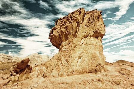 timna: Fantastic sandstone formations in Timna park near to Eilat, Israel Stock Photo