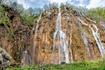 The Big Waterfall in Plitvice National Park, Croatia Stock Photo