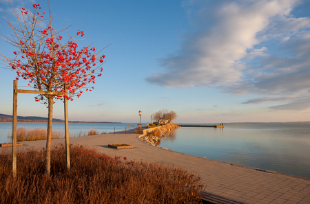 Lake Balaton at Keszthely city with the port in Hungary Stock Photo