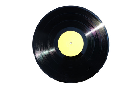 Vinyl record isolated on white