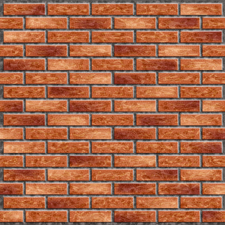 Wall of red brick with cement Illustration