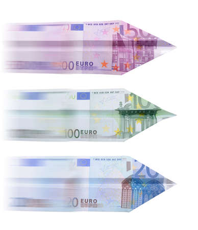 20 euro: Planes made of Euro notes