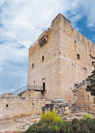 Medieval Colossi castle in the Mediterranean iscland Cyprus Stock Photo